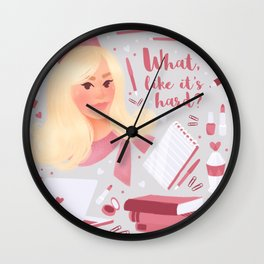 Elle Woods Wall Clock