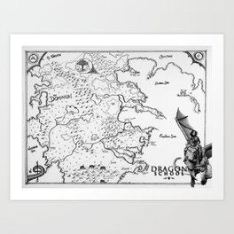 Dragon School Map Art Print
