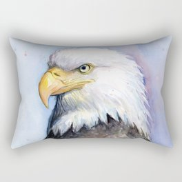 Bald Eagle Watercolor Bird Wildlife Animals Rectangular Pillow