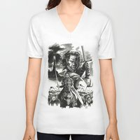 aragorn V-neck T-shirts featuring Aragorn by Juan Pablo Cortes