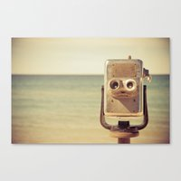 robot Canvas Prints featuring Robot Head by Olivia Joy St.Claire - Modern Nature / T