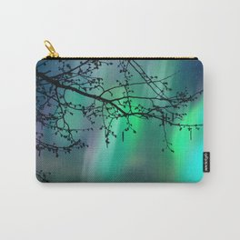 Tree Branch and Aurora Borealis Night Sky Carry-All Pouch