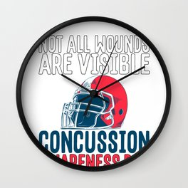 Traumatic Brain Injury Not All Wounds are Visible Concussion Awareness Wall Clock