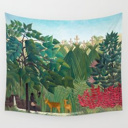 Henri Rousseau - The Waterfall Wall Tapestry