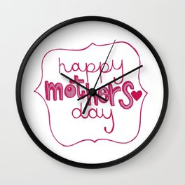 happyMothersday Wall Clock