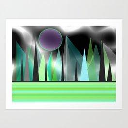 Northern Lights - Landscape Art Print