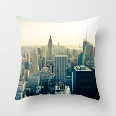 Good Evening New York City Throw Pillow