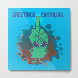 The Finger Alien #11 Metal Print