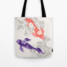 Purple and Orange Koi Tote Bag