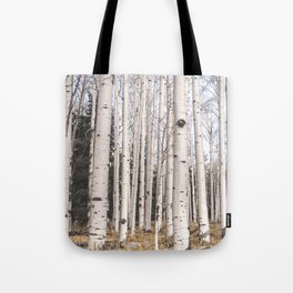Tall Birch Forest Tote Bag