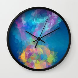 Galaxy Nebula Geometric Art Wall Clock