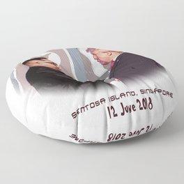 Trump Kim Summit Floor Pillow