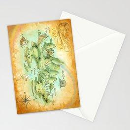 Neverland Map Stationery Cards