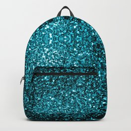 Beautiful Aqua blue glitter sparkles Backpack