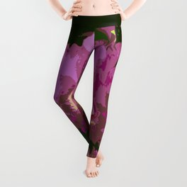 Pink Orchid Abstract Leggings