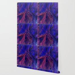 Velvet Fold In Purple - Abstract Acrylic Art by Fluid Nature Wallpaper