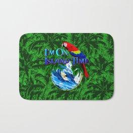 Island Time Surfing Palm Trees Bath Mat