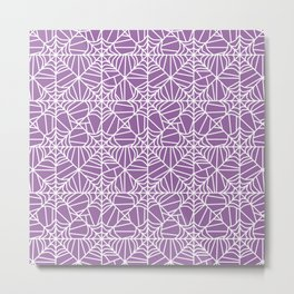 Spiderweb Pattern in Purple Metal Print
