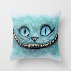Cheshire Cat - Drawing Throw Pillow