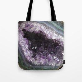 Amethyst Crystal Geode Sphere Tote Bag