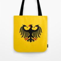 german Tote Bags featuring German Eagle by Richard Fay