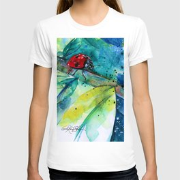 Ladybug - by Kathy Morton Stanion T-shirt