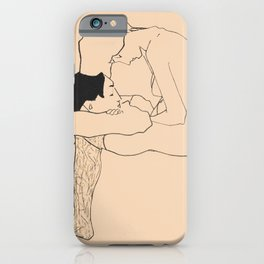 Egon Schiele - Lovers iPhone Case