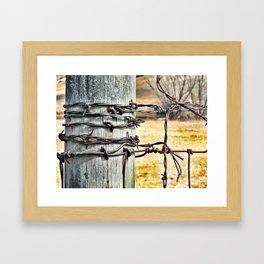 barb wire Framed Art Print