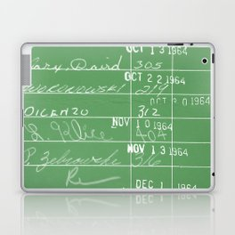 Library Card 23322 Negative Green Laptop & iPad Skin