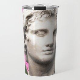 Vaporwave Roman Bust Travel Mug