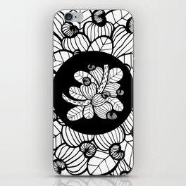 Black & White Cashew Apple iPhone Skin