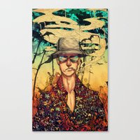 fear and loathing Canvas Prints featuring Fear and Loathing  by Mony