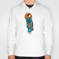 geisha Hoodies featuring Geisha by Steve W Schwartz Art