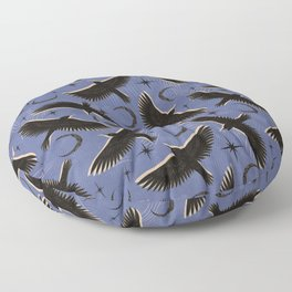 Raven with Shadow Navy Floor Pillow