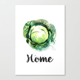 Cabbage Home Canvas Print