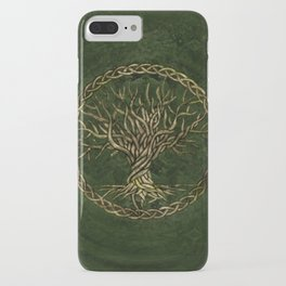 Tree of life -Yggdrasil -green and gold iPhone Case