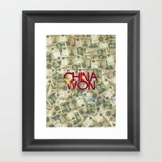 China Won Framed Art Print