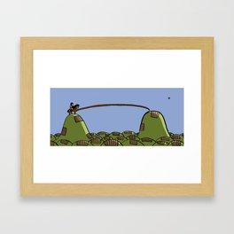 Faceless Horseman Framed Art Print