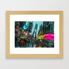 the Rain Cleans the Streets Framed Art Print