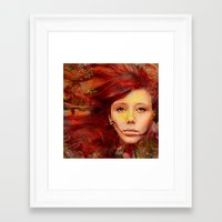 irish Framed Art Prints featuring Irish fairy by Ganech joe
