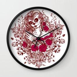 Sexy Woman zombie WITH Flower - Razzmatazz Wall Clock