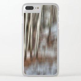 Poplar Cluster in the Wind Clear iPhone Case
