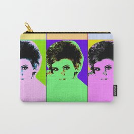 Poster with girl in popart style Carry-All Pouch