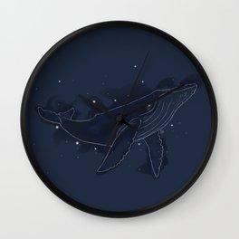 Spacial Whale Wall Clock