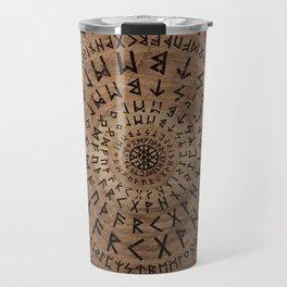 Elder Futhark Circular Composition Travel Mug