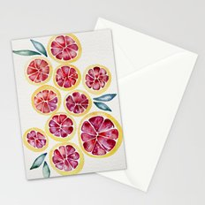 Sliced Grapefruits Watercolor Stationery Cards