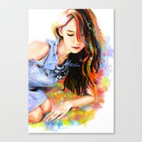 snsd Canvas Prints featuring The Midas Touch by Kimberly Phan