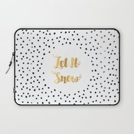 Christmas Quote Let It Snow Laptop Sleeve