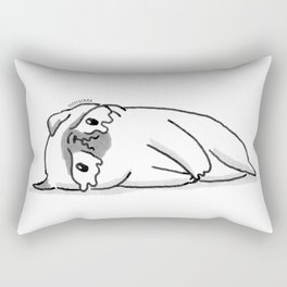 Sad Mochi the pug Rectangular Pillow
