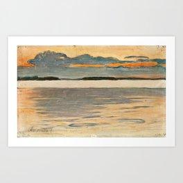 PEKKA HALONEN, DUSK. Art Print